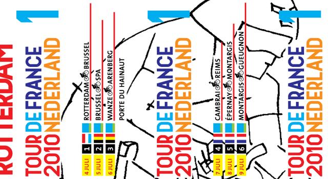 TNT Post, postzegel Tour de France Nederland 2010
